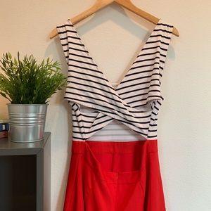 Dresses & Skirts - Red and White Backless Dress | FSOOG